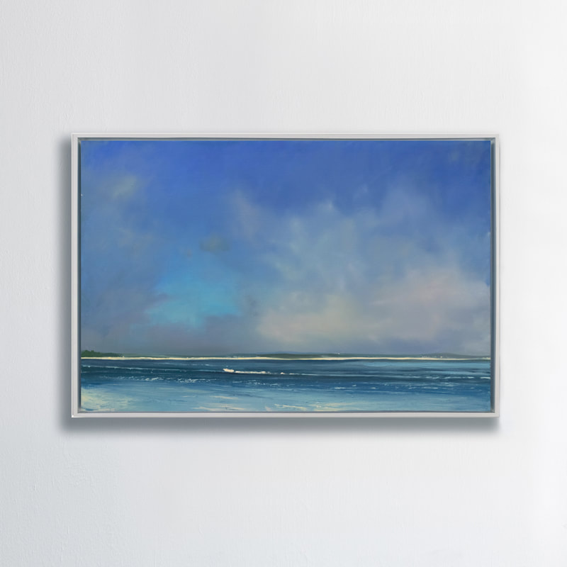Boating Blues, Seascape, Oil painting by Annie Wildey