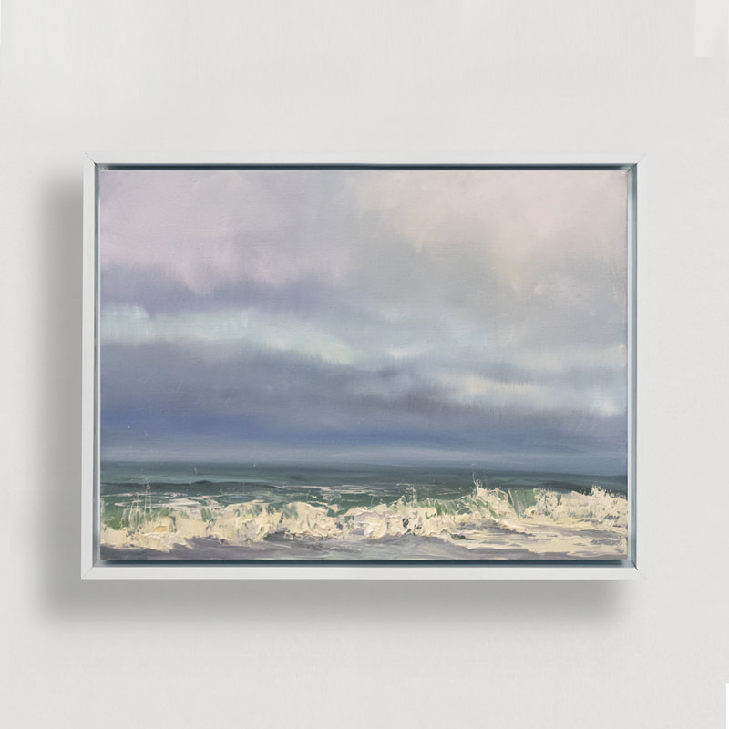 Breaking Through, Seascape, Oil painting by Annie Wildey
